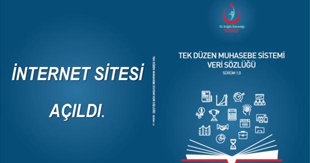 Tek Düzen Muhasebe Sistemi Veri Sözlüğü İnternet Sitesi Açılmıştır