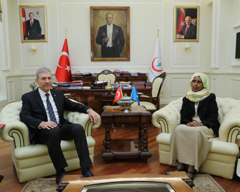 Bakan Demircan Somali, Kırgızistan ve Libya Sağlık Bakanlarını Kabul Etti