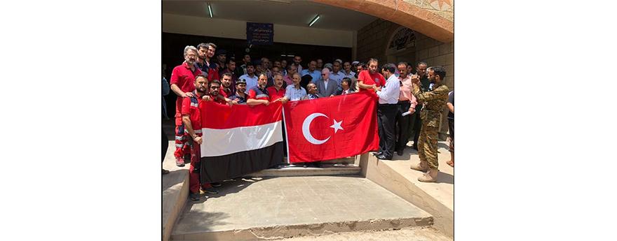 Yemen'de Kurulan İkinci Türk Sahra Hastanesi Taiz Şehrinde Yemenli Kardeşlerimizin Hizmetine Açıldı