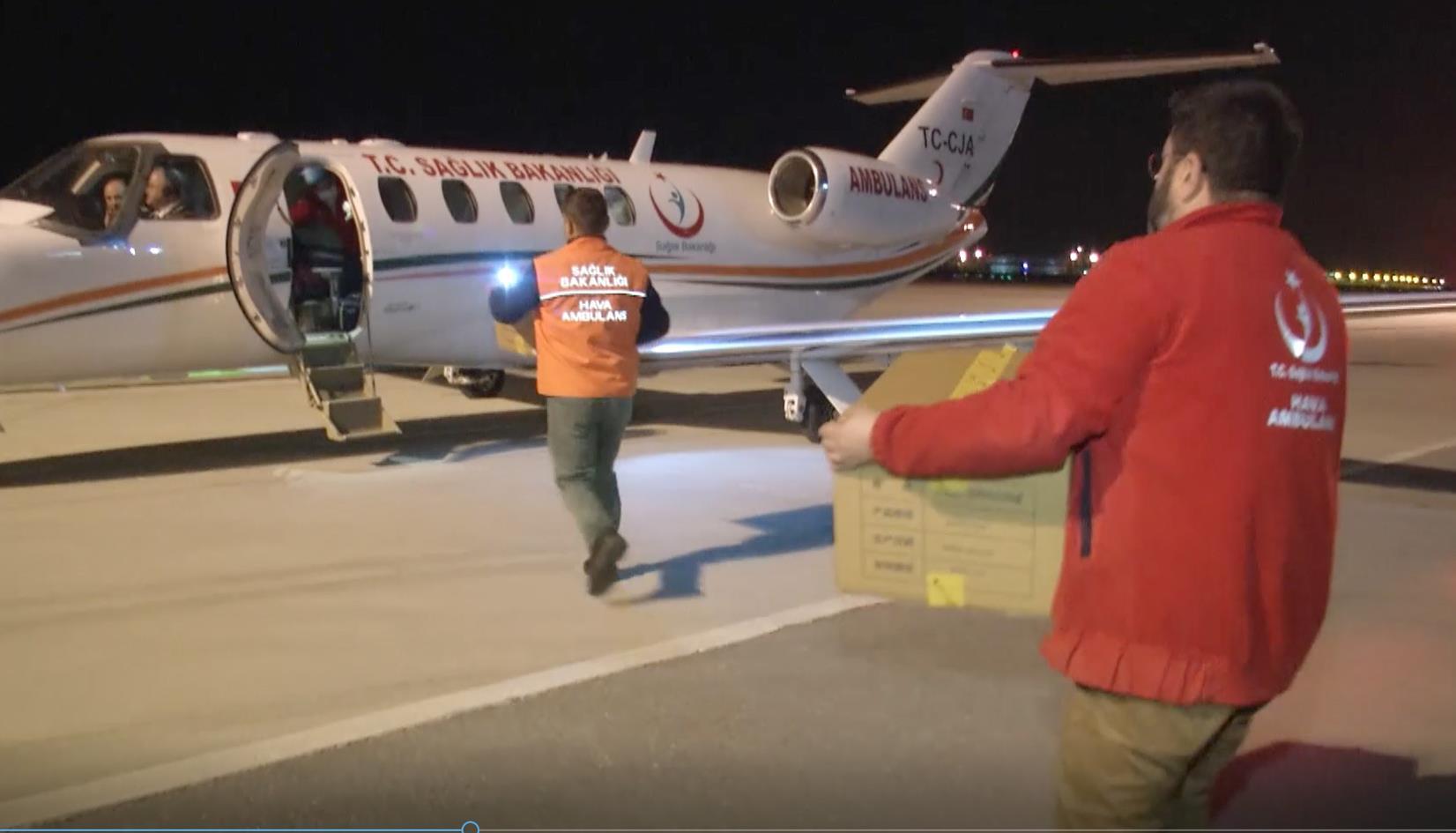 Çin'den Alınan COVİD-19 İlaçları Ambulans Uçaklarla 40 Şehre Dağıtıldı
