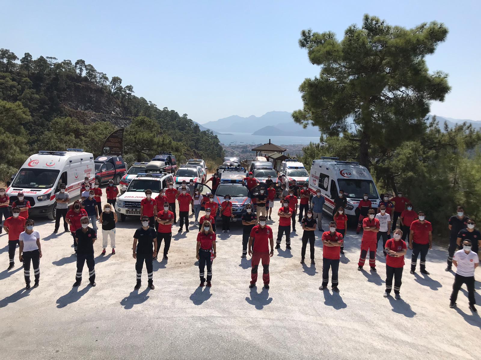 Dünya Ralli Şampiyonası'nın (WRC) 5. Ayağı Türkiye Rallisi'nde UMKE  ve 112 Acil Ekiplerimiz Sağlık Tedbirlerini Sağlıyor